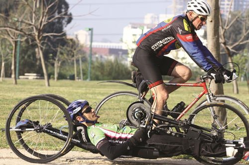 Koby Lion, while training for the 2012 the Paralympics.